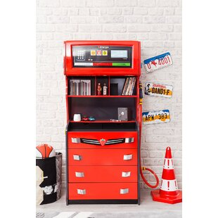 Champion GTI Racer 4 Drawer Chest with Hutch by Cilek