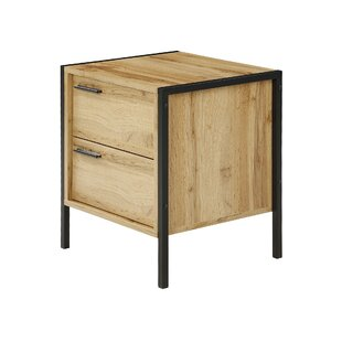 Bremond Block 2 Drawer Bedside Table By Mercury Row