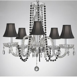 Kasper 5-Light Shaded Chandelier by House of Hampton