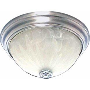 Minster 2-Light Ceiling Fixture Flush Mou..