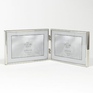 bulwell double hinged simply metal picture frame - Double Photo Frame