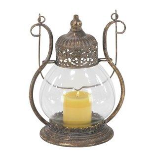 Bloomsbury Market Metal/Glass Lantern