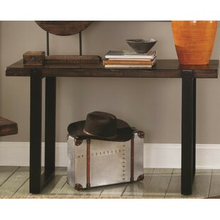 Collin Minimalist Metal Base & Wooden Top Console Table