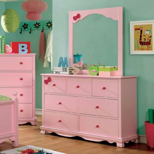 Dani 7 Drawer Double Dresser with Mirror