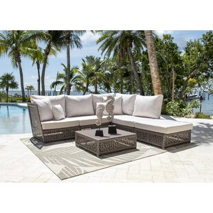 Maldives Patio Sectional Set with Sunbrella Cushions (Set of 6) by Panama Jack Outdoor