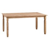 Nolea Pine Solid Wood Dining Table by Rosalind Wheeler