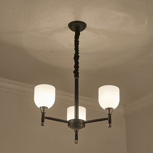 Wrought Studio Wasdale 3-Light Shaded Chandelier