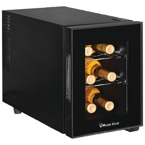 6 Bottle Single Zone Freestanding Wine Co..