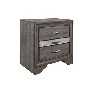 Cave Spring 3 Drawer Nightstand