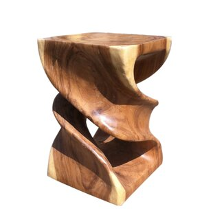 Double Twist Accent Stool by Asian Art Imports