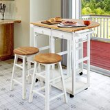 Aakin Rolling Home Dining Kitchen Cart by Latitude Run