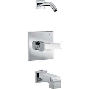 Reviews Ara Tub and Shower Trim with Lever Handle and Monitor ByDelta