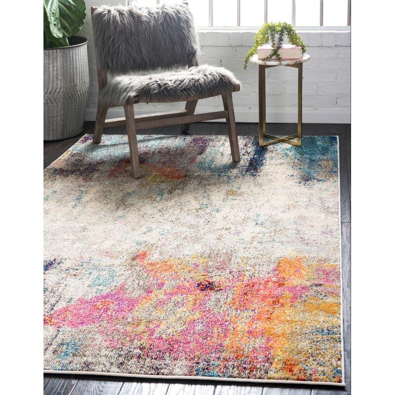 Ebern Designs Alabama Abstract Beige Area Rug Reviews Wayfair