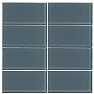 3 X 6 Gl Subway Tile In Steel Blue