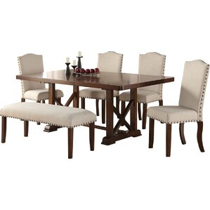 Chevaliers 6 Piece Dining Set by Canora Grey