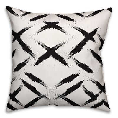 Brayden Studio Novotny Brush Strokes Size: 20 x 20, Type: Throw Pillow