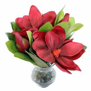 Triple Magnolia Floral Arrangement in Vase