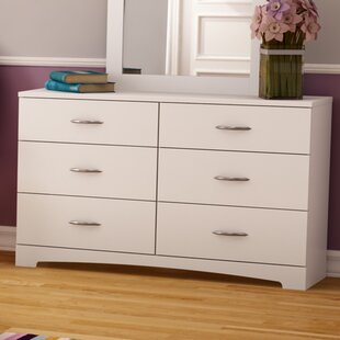 Step One 6 Drawer Double Dresser with Mirror