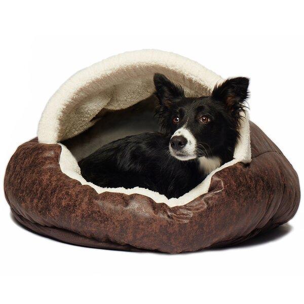Tucker Murphy Pet Iowa Vegan Leather Deep Dish Cave Hooded Dog Bed Reviews Wayfair