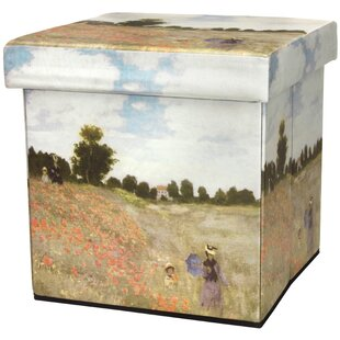 Monet Poppies Storage Ottoman ..