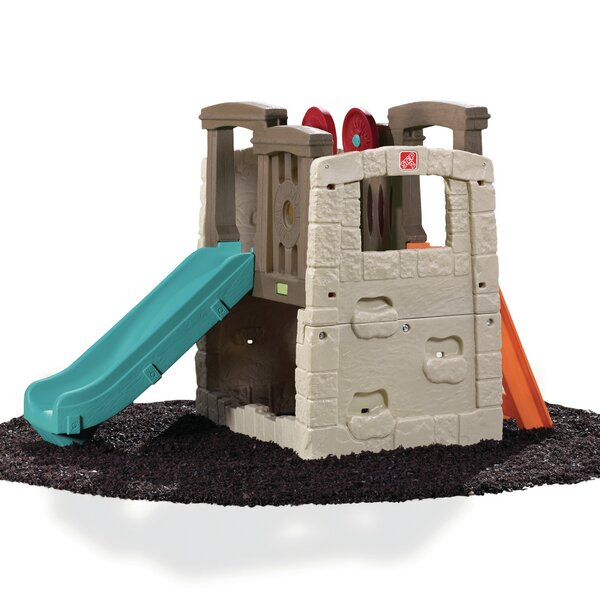 Kids Durable Plastic Slides and Step2 Naturally Playful Woodland Climber