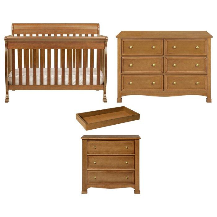 Kalani 4 In 1 Convertible 3 Piece Nursery Furniture Set