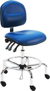 Vinyl Ergonomic ESD Anti Static Swivel Drafting Chair