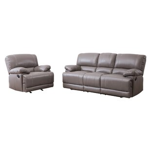 Loper 2 Piece Leather Living Room Set by Red Barrel Studio