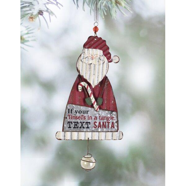 The Holiday Aisle Set Of 2 Santa Bouncy Hanging Figurine Ornament Wayfair