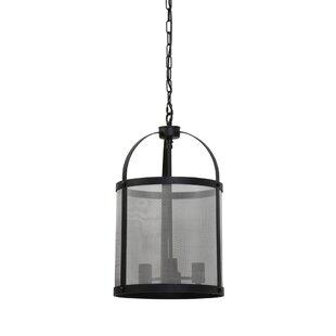 Gracie Oaks Manzella Tall 3-Light Lantern Pendant