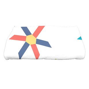Boubacar Pinwheel Pop Geometric Print Bath Towel