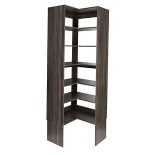 "Lesly 28"" W Plywood Corner Tower Closet System"
