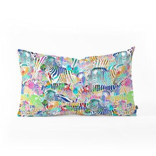 Ruby Door Zebras Oblong Lumbar Pillow by East Urban Home