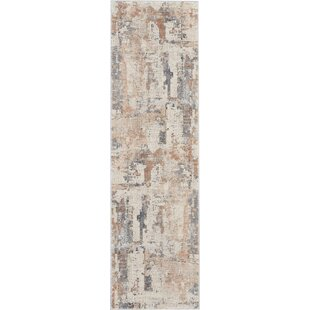 Comer Abstract Beige/Gray Area Rug ByWilliston Forge
