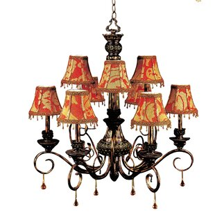 JB Hirsch Home Decor Constantine 9-Light Shaded Chandelier