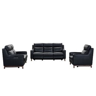 Wisteria Leather Reclining Configurable Living Room Set by Armen Living