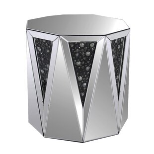 Baez Octagonal Mirrored Top End Table by House of Hampton