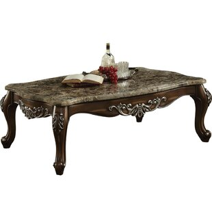 Haylee Marble Top Wooden Coffee Table