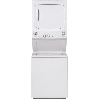 3.8 cu. ft. Washer and 5.9 cu. ft. Electric Dryer Laundry Center GE Appliances Finish: White