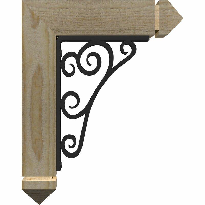 Ekena Millwork 3 1 2 W X 11 1 2 D X 14 H 2 Thick Triple Brace Tristan Arts And Crafts Ironcrest Wayfair