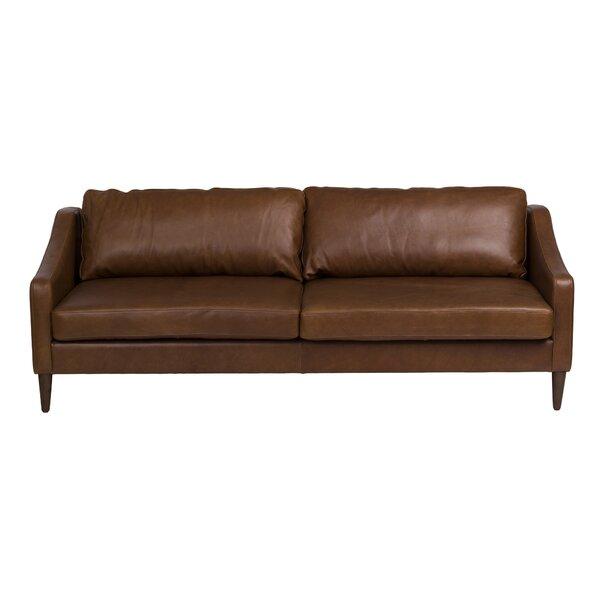Bungalow Rose Bucoli Leather Sofa | Wayfair