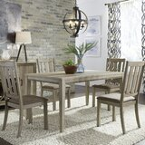 Loggins 5 Piece Solid Wood Dining Set by Gracie Oaks