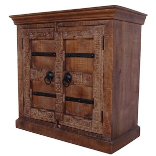 Hillsville Solid Wood Hand-Craved 2 Door Accent Cabinet by World Menagerie