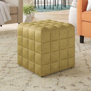 Vanbuskirk Tufted Cube Ottoman by Wrought Studio