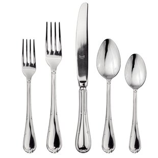 Raffaello 5 Piece 18/10 Stainless Steel Flatware Set, Service for 1