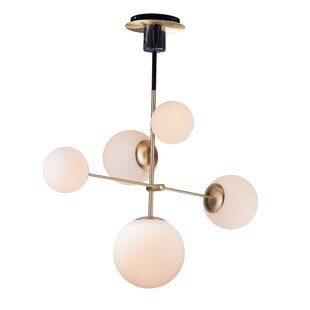 George Oliver Bohrer 5-Light Sputnik Chandelier