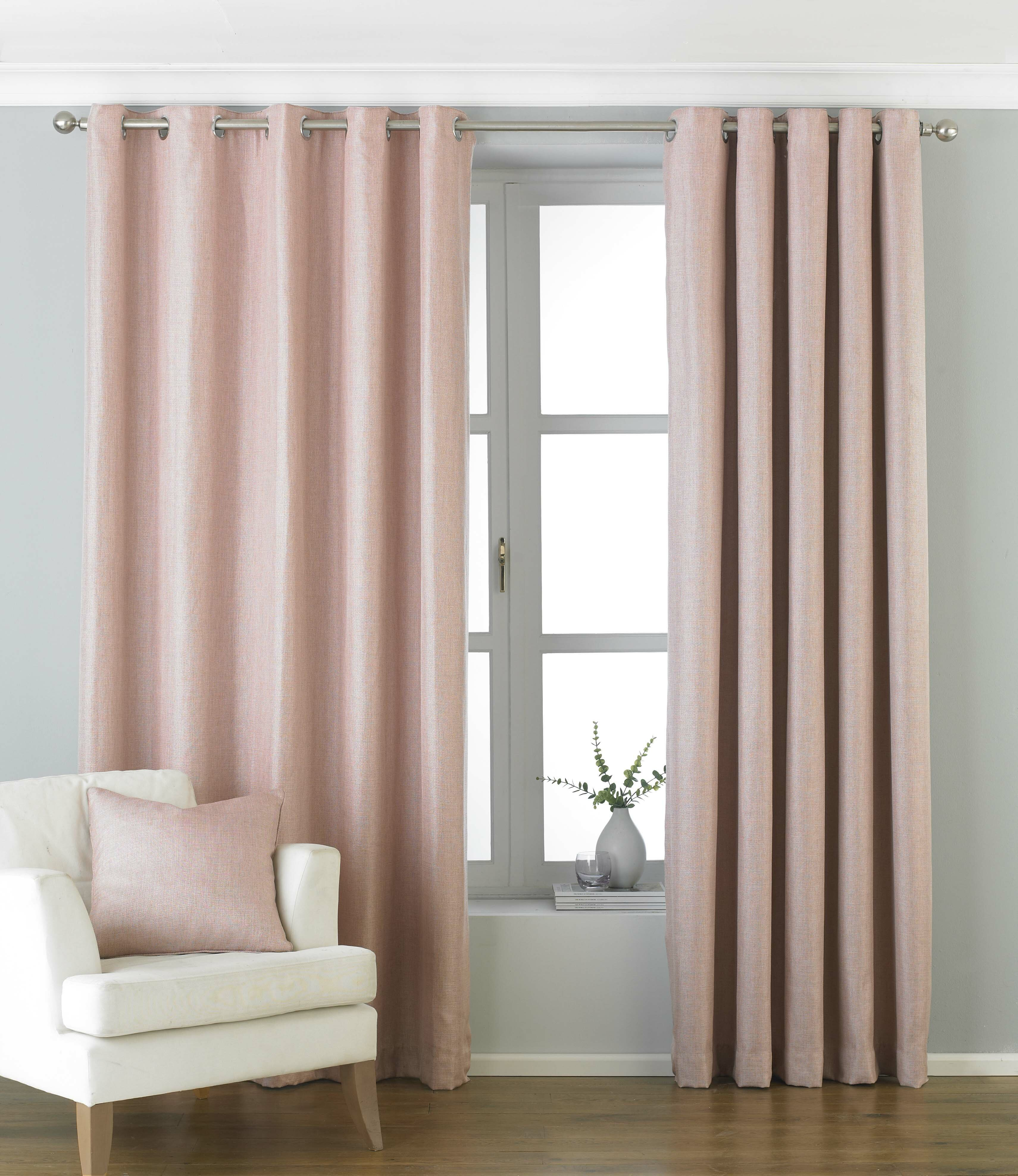 1 PAIR SOLITAIRE FULLY LINED EYELET OR TAPED HEADER CURTAINS ~Many Colours//Sizes