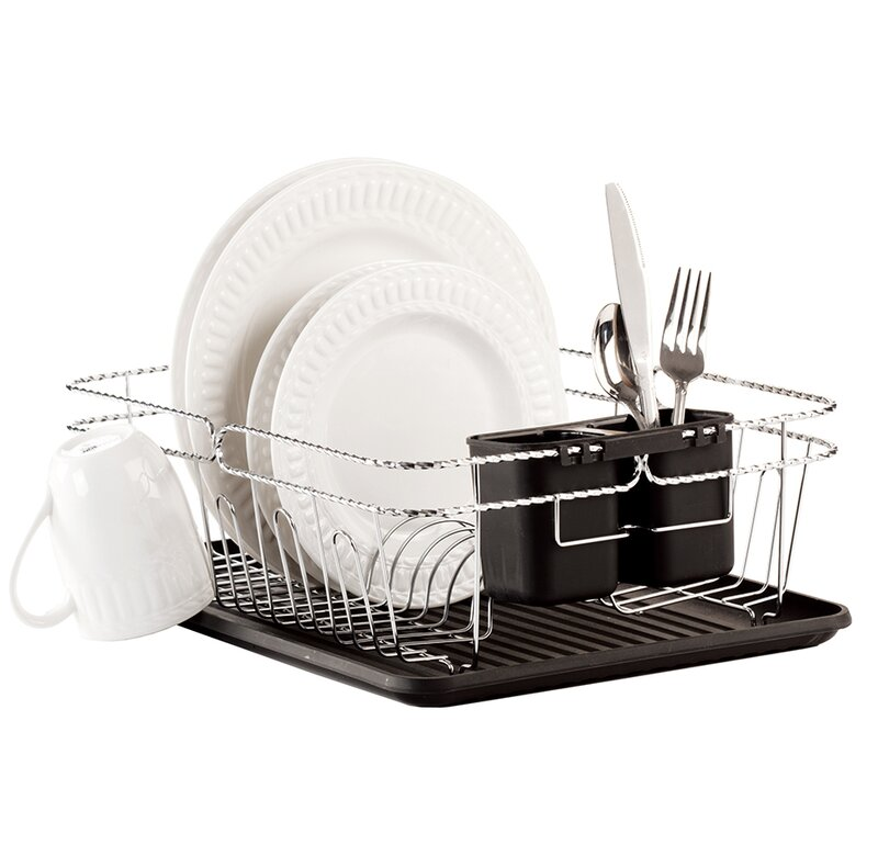 Simplify 3 Piece Twisted Dish Rack Set   Reviews  b5433d112596