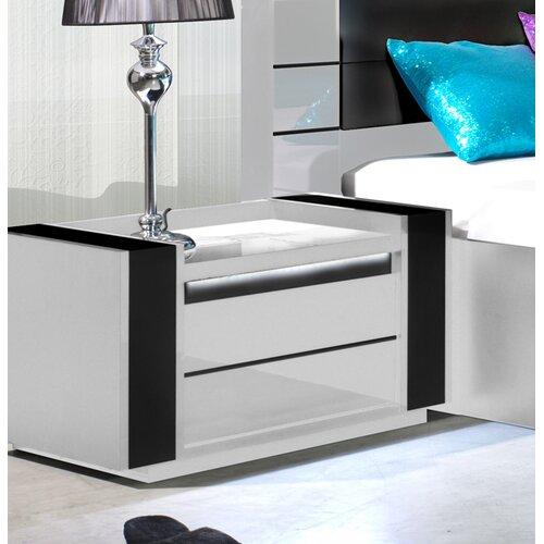 Nachttisch Mitzi | Schlafzimmer > Nachttische | Weiß | Perspections