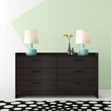 Nowell 6 Drawer Double Dresser by Hashtag Home